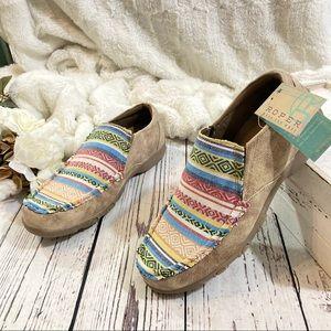 Roper Western boho Johnnie loafers NEW
